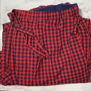 Men's plaid pajama pants